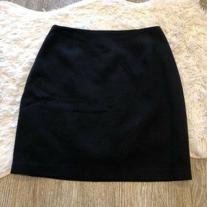 Cache A Line Mini Skirt Black Back Zipper Size 10